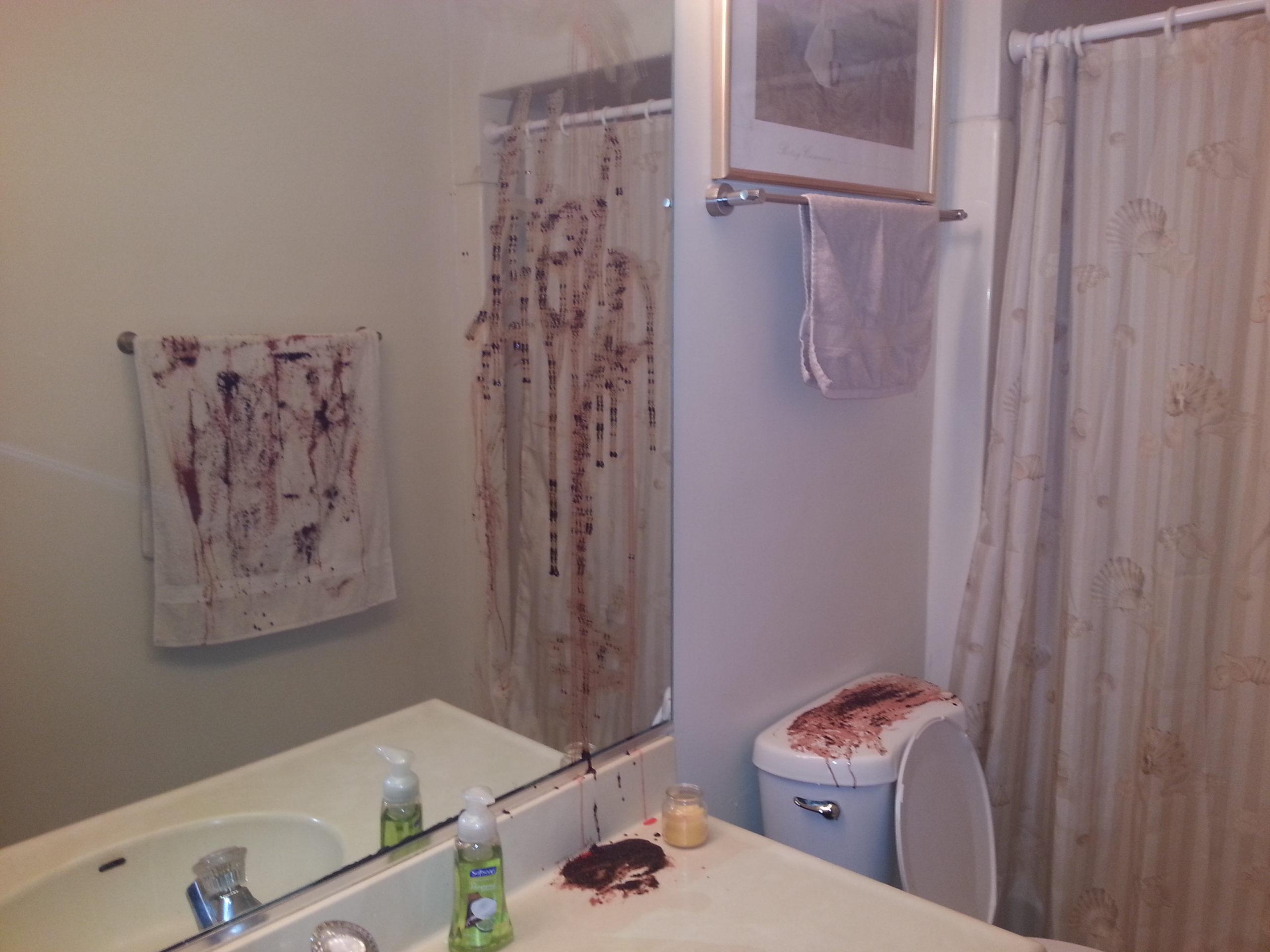 diy halloween bathroom decor or how chrissy is seriously