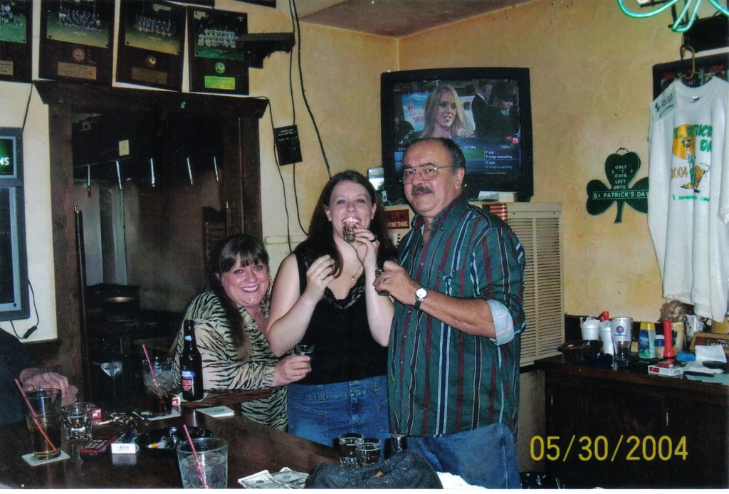 My first legal shot with my parents. (Isn't my mom short and adorable?)