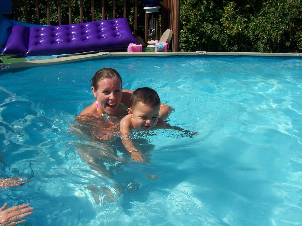 4th of july swimming Baby A