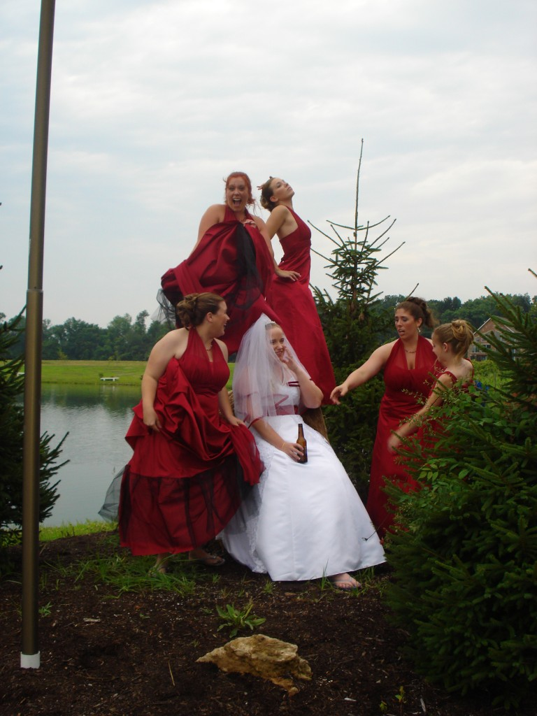 funny bridesmaid photos