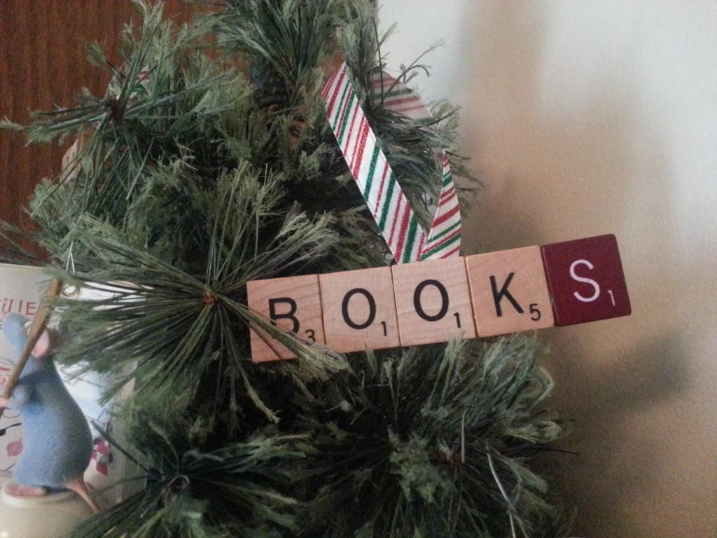 Book Scrabble Ornament