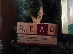 Read Scrabble Ornament