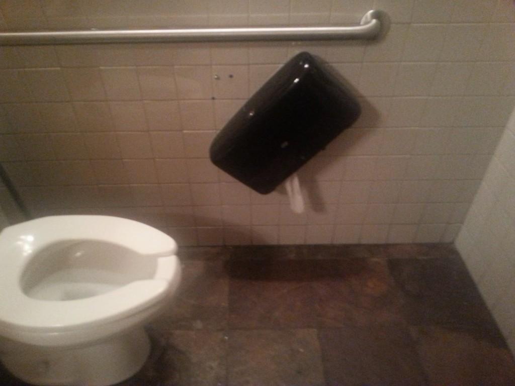 Broke the bathroom