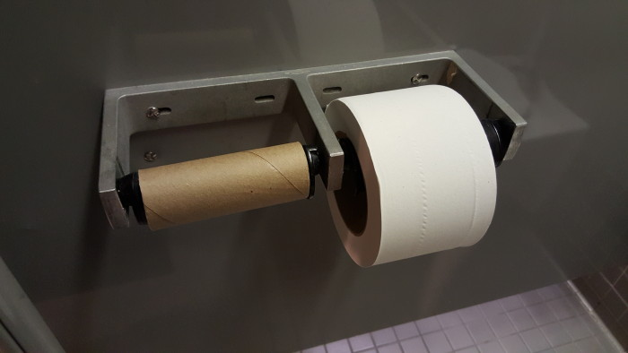 When the good toilet paper runs out, you may want to avoid pooping at the office.