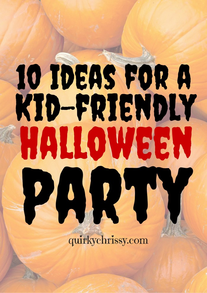 10 Ideas for a kid-friendly halloween party