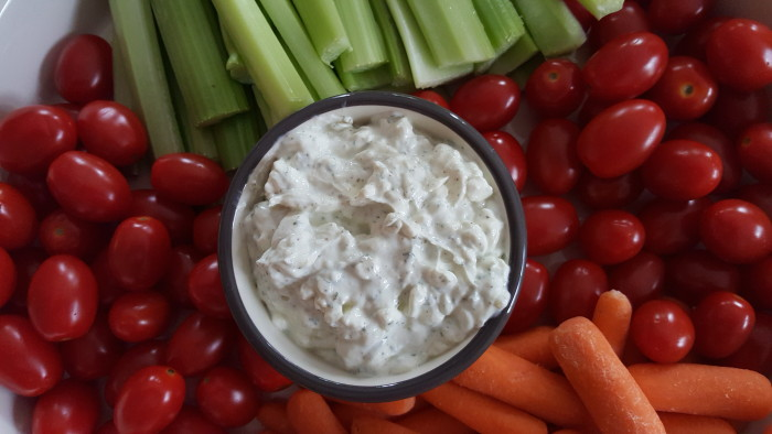 Prepare your veggie crudite the night before to save time for your uber panic when hosting a party.