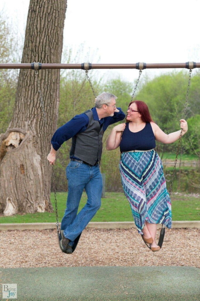 adorable engagement photos at a playground