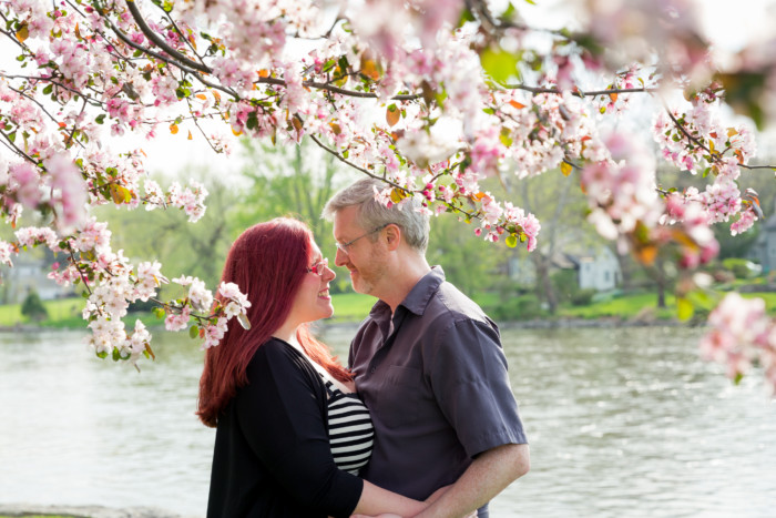 beautiful plus size engagement photos