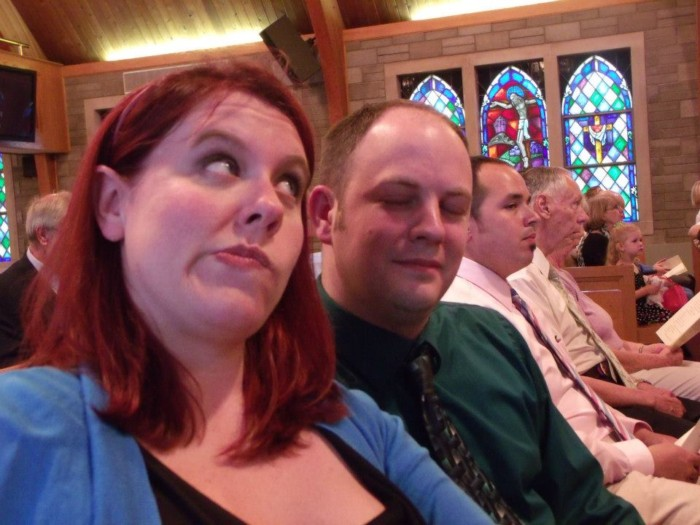 Chrissy and Three makin' jokes