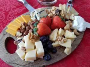 Beautiful cheese plate for two