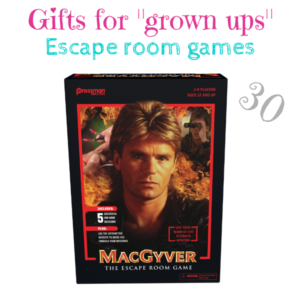 "Gifts for ""grown ups"" MacGyver The Escape Room Game $30"