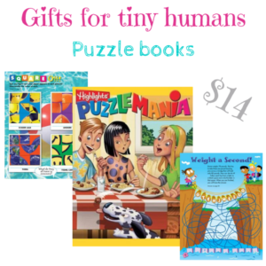 gifts for tiny humans, puzzle books - Puzzlemania $14