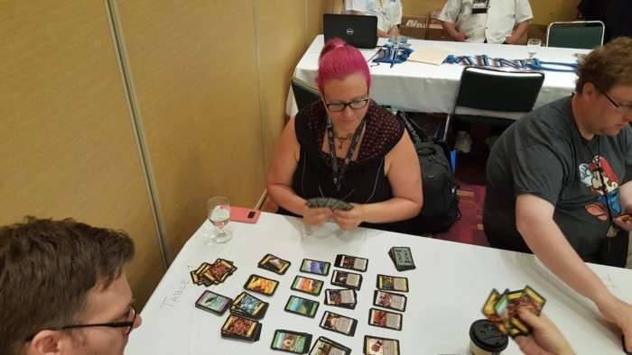 I played in a Dominion Tournament at GenCon. I lost, but I had lots of fun!
