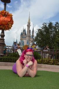 Magic Kingdom Disney Photopass hub grass Cinderella Castle