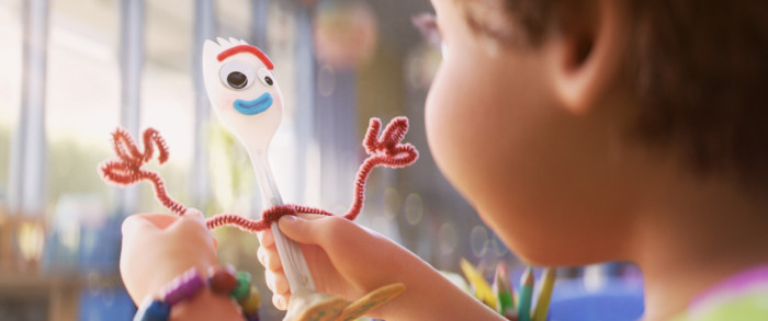 Bonnie making Forky in Toy Story 4
